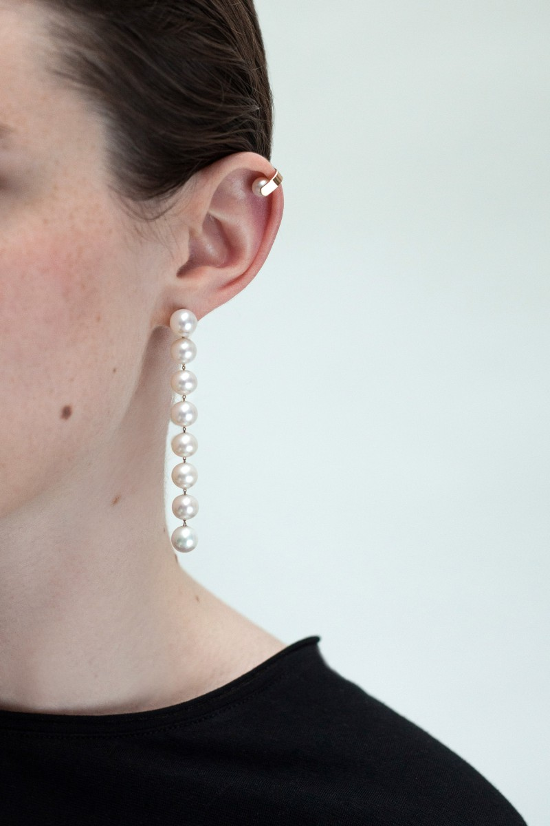 Saskia Diez Chain double ear cuff