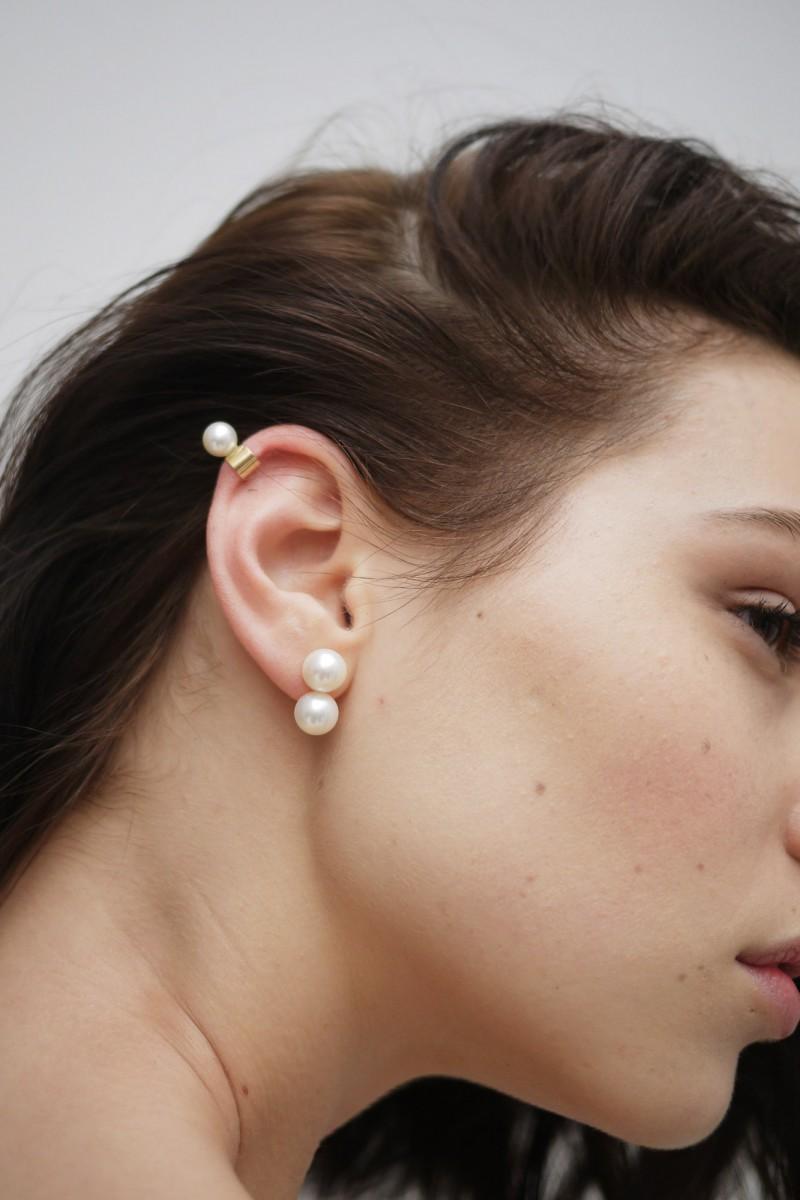 Saskia Diez Pearly double ear cuff XYjSChgx