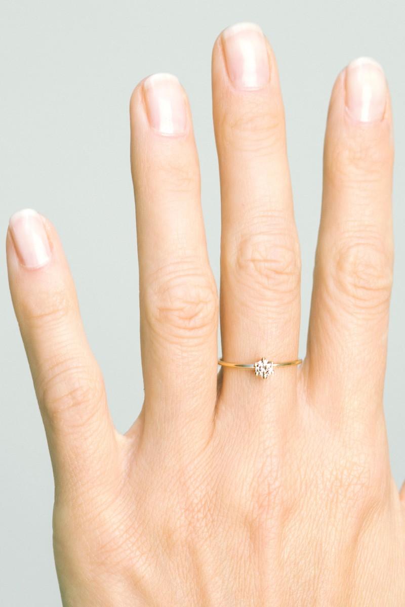 diamond WIRE solitaire ring · Saskia Diez