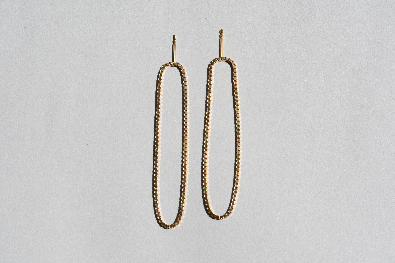Gold Long Loop Earrings 183 Saskia Diez