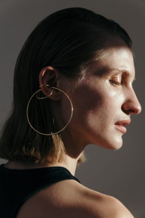 Big triple earcuff Gold plated